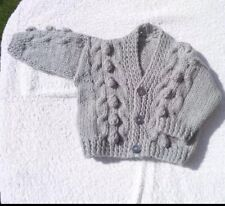 newborn Knitted Boys  Cardigan In Silver grey.. Brand New... NEW COLOUR