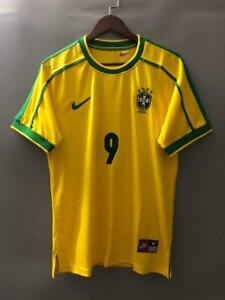 BRAZIL BRASIL 1998 RONALDO 9 WORLD CUP HOME JERSEY