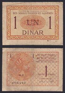 Serbes Croates Slovenes 1 dinar 1919 BB-/VF-  A-10