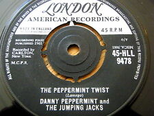 "DANNY PEPPERMINT & THE JUMPING JACKS - THE PEPPERMINT TWIST  7"" VINYL"