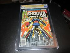 CGC SHOGUN WARRIORS #1 TRANSFORMERS PROTOTYPE SIGNED BY HERB TRIMPE CGC 9,6!!!