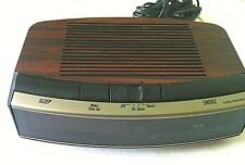 Vintage Digital Alarm Clock Radio General Electric Wood Grain 7- 4619A GE 1980's