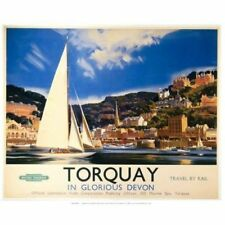 Torquay in Glorious Devon, Vintage Travel Advert Fridge Magnet