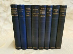 Lot Of 8 Antique Books The World's Classics By Various Authors - 1929 - 1947