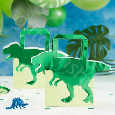 5 Dinosaur Paper Party Bags Kids Childrens Birthday Party Favours Dino Loot Bags