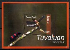 Tuvalu 2012 estampillada sin montar o nunca montada de Tuvalu escarabajos Firefly Escarabajo 1 V S/S INSECTOS SELLOS