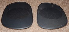 Black 98+ S10 Blazer Sonoma Jimmy Bravada Dash Speaker Cover Grills Pair