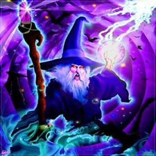 "WIZARD CLOTH WALL BANNER flag wizards item fantasy wall hanging 40"" x 45"" NEW"