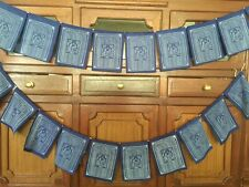 Tibetan Prayer Flags Solid Blue Color Medicine Buddha Healing Prayer flags Flags