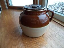 Vintage 2 Quart Bean Pot with Lid and handle - Crown #2