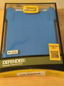 "OtterBox Defender Rugged Protection for Kindle Fire HD 7""  Sky Blue/White   New!"