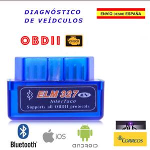 Escaner Lector de Diagnosis de Coche ELM 327. Mini OBD2 Bluetooth Multimarca.