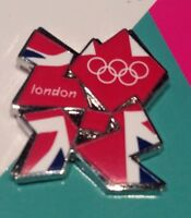 London 2012 Olympic / Paralympic Glittering Union Jack Logo Pin Badge, Tie Pin