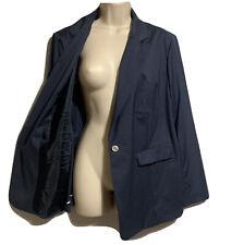 A.T.CORNER Designer UK 18 Blue Unlined Blazer Jacket Tailored GWANGJU UNI RARE