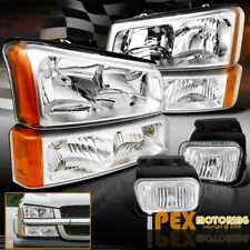 2003-2006 Chevy Silverado 1500 2500HD 3500 Chrome Headlights+Signals+Fog Lights