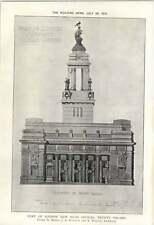1912 Port Of London New Head Office Trinity Square Elevation