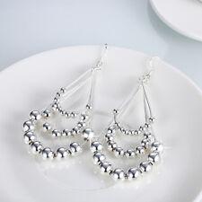 Classic 925 Sterling Silver Filled Twist Hoop Earrings Dangle Earrings Party