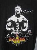 STEVE & BARRY'S T Shirt XL BATISTA World Wrestling  WWE black cotton