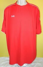 Men's Under Armour Short Sleeve Athletic Shirt Size XL Red