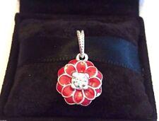 Authentic Pandora Red Oriental Bloom Charm #791829CZ Pandora TAG & BOX Included