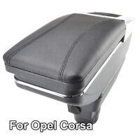 Arm Rest For Vauxhall Corsa D 2006-2014 Armrest Rotatable Storage Box Black 2010