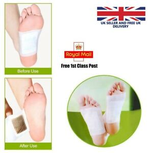 Detox Foot Patches Pads Feet Slimming Body Toxins Cleansing Healthy Organic UK