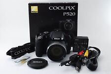 Nikon COOLPIX P520 18.1MP Digital Camera Black + Extras *N Mint* From Japan