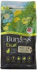 Burgess Excel Natures Blend pépites lapin Nourriture 1.5kg