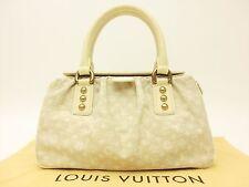 Louis Vuitton Authentic Monogram Mini Lin Dune Travelers PM Hand Bag Auth LV