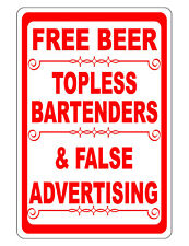 Free Beer Bar Sign Metal Sign Durable Aluminum Weather Proof No Rust Bright #319