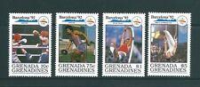 GRENADA GRENADINES 1992 1144/47 POLO/DISCO/BOXEO/GIMNASIA MASC BARCELONA 92 4v.