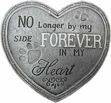 """Heart Shape Pet Memorial Plaque Dog Puppy Grave Stone """"no Longer by My Side"""""""