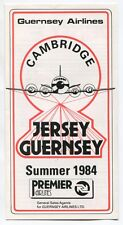 GUERNSEY AIRLINES TIMETABLE SUMMER 1984