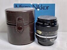 Objectif Macro NIKON Micro-Nikkor K MF 55mm f/3,5 +HOUSSE/AI CONVERSION KIT n°62