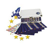 SAFE Alu Münzkoffer No. 179 für 30 Euro Kursmünzensätze verkapselt in Münzkapsel