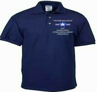 HAMID KARZAI AIRPORT * AFGHANISTAN *USAF EMBROIDERED LIGHTWEIGHT POLO SHIRT