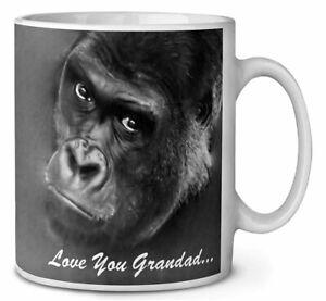 Gorilla 'Love You Grandad' Sentiment Coffee/Tea Mug Gift Idea, AM-17MG