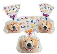 Pack of 12 - Doggy Bag Cellophane Bags - Pet Puppy Party Bags