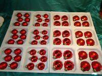 ~ Konvolut 60 alte Christbaumkugeln Glas rot Vintage Weihnachtskugeln Tannenbaum