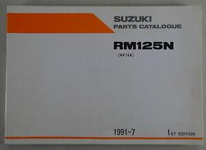 Catálogo de Piezas/Regiones Catálogo Suzuki RM 125N Stand 07/1991