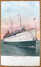 Steamship Tionesta On Open Water V.O. Hammon Postcard 573