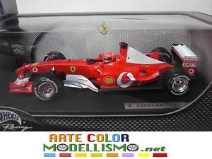 MATTEL HOT WHEELS B1023 FERRARI F2003GA SCHUMACHER WORLD CH. 1/18 F1 SCALE MODEL