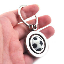 3D Sports Rotating football soccer Keychain Keyring Chain Ring Key Fob bal Uwwj