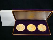 Precious Moments-Set Of 3 Limited Edition Medallions-Cloisonne