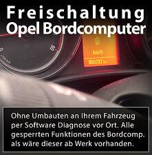 Freischaltung des Bordcomputer OPEL Astra, Insignia, Zafira, Corsa, Vectra, ...