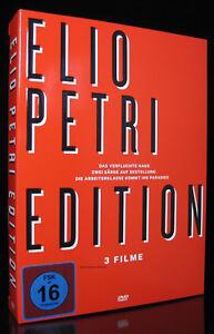 DVD ELIO PETRI EDITION - 4 DISC-BOX-SET - VANESSA REDGRAVE + FRANCO NERO * NEU *
