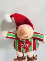 1991 Ziggy Christmas Holiday Plush I Love You Tom Wilson Reindeer Slippers Gift