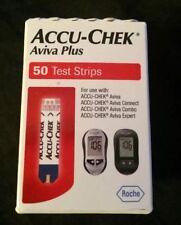 50 Accu-Chek Aviva Plus Diabetic Test Strips 50 EXP. 02/19+