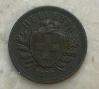 1893 Switzerland 2 Rappen - Nice