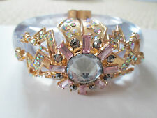 NWT Auth Betsey Johnson Stargazer HUGE Lucite Cloud Star Bolt Statement Bracelet
